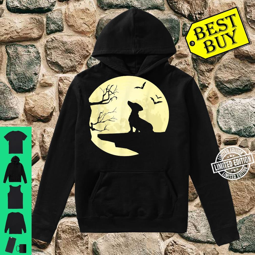 Dachshund Silhouette in Full Moon Dog Bats and Trees Shirt hoodie