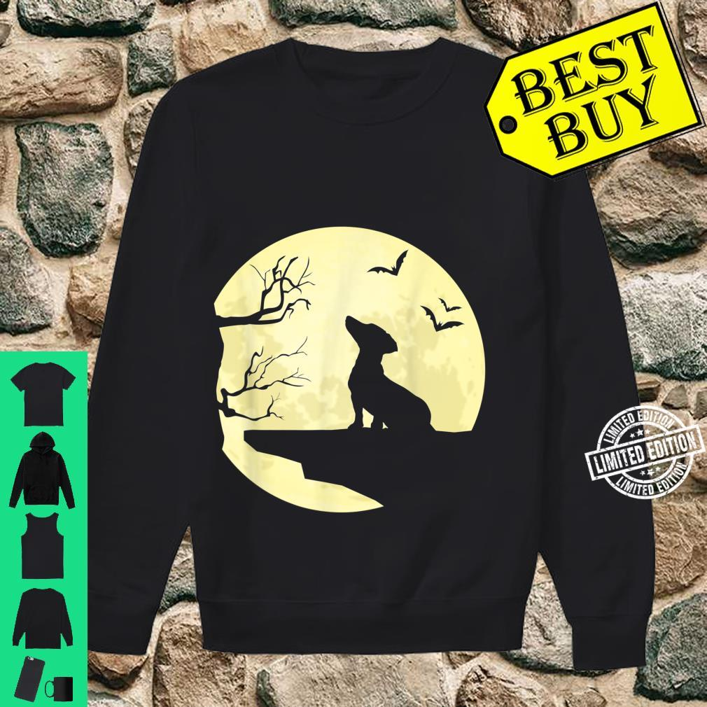 Dachshund Silhouette in Full Moon Dog Bats and Trees Shirt sweater