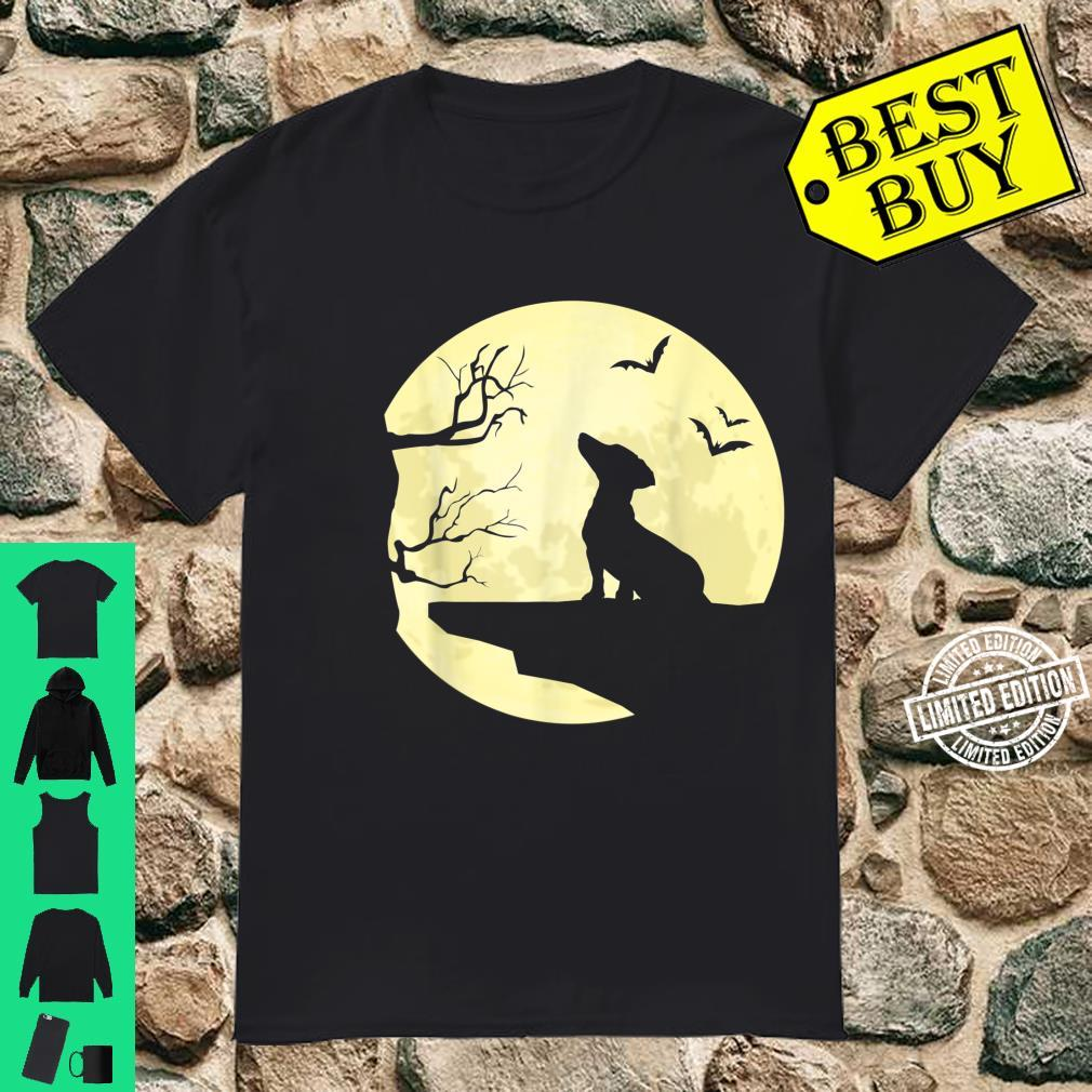 Dachshund Silhouette in Full Moon Dog Bats and Trees Shirt