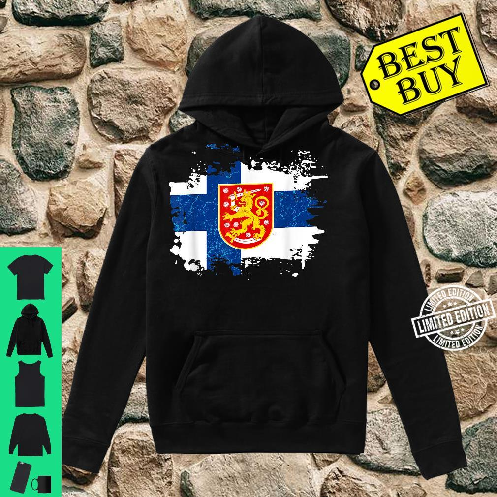 Finland Finnish Flag Coat Of Arms Shirt hoodie