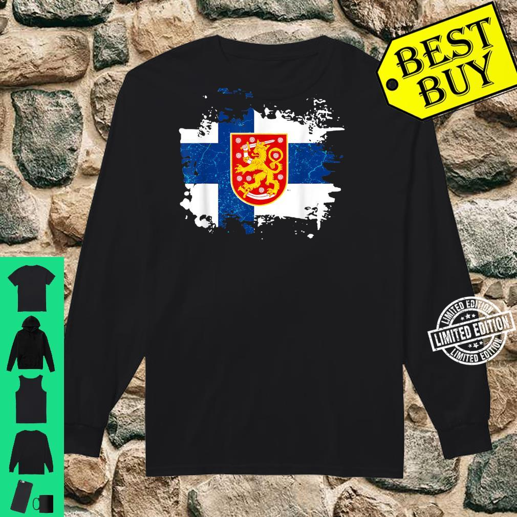 Finland Finnish Flag Coat Of Arms Shirt long sleeved
