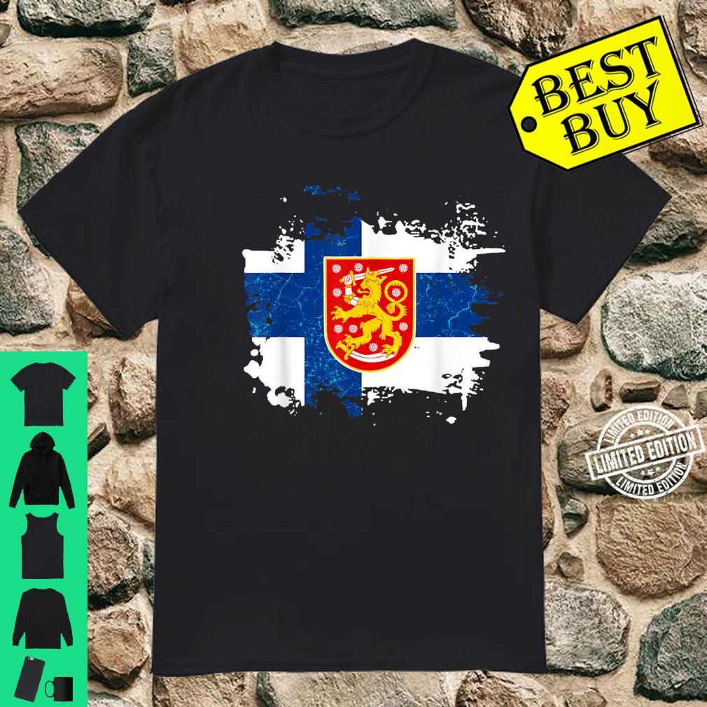 Finland Finnish Flag Coat Of Arms Shirt